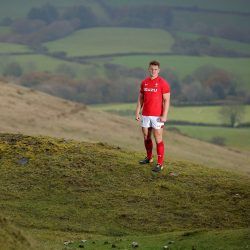 WILL KELLEHER STORY, DAILY MAIL SPORTS DESK Scarlets and Wales international rugby player Jonathan Davies in the Black Mountains, Carmarthenshire, Wales, UK. Wednesday 18 October 2017